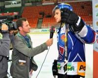 Tyler Seguin (EHC Biel, Boston Bruins) beim Interview. Foto: Hervé Chavaillaz