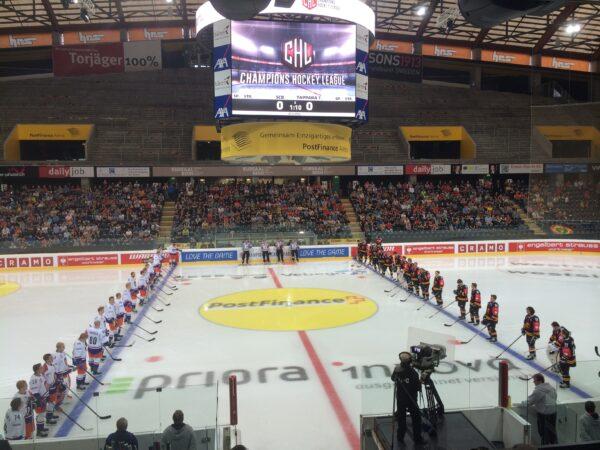Champions-Hockey-League 2014/15 Bern - Tapapra Tampere Foto: eishockeyblog