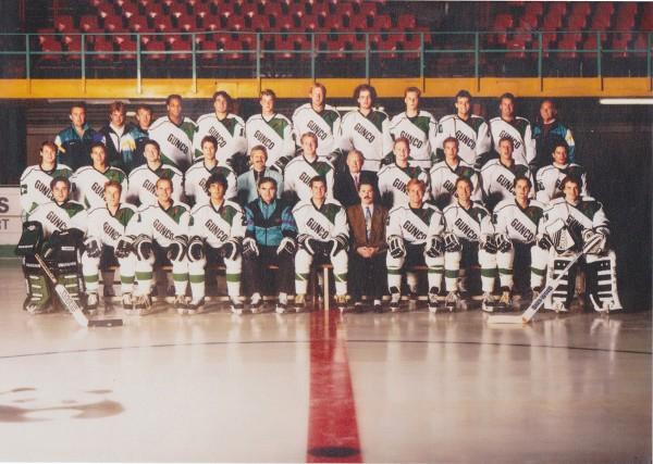 IJHC Gunco Panda`s Rotterdam 1991/92 mit Headcoach Alex Andjelic (unten, fünfter von links). Foto: