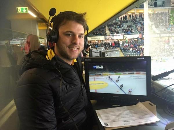 CBR Brave-Spieler Alain Riesen besucht seinen Eishockey-Ursprung in Bern. (Foto: Michael Krein)