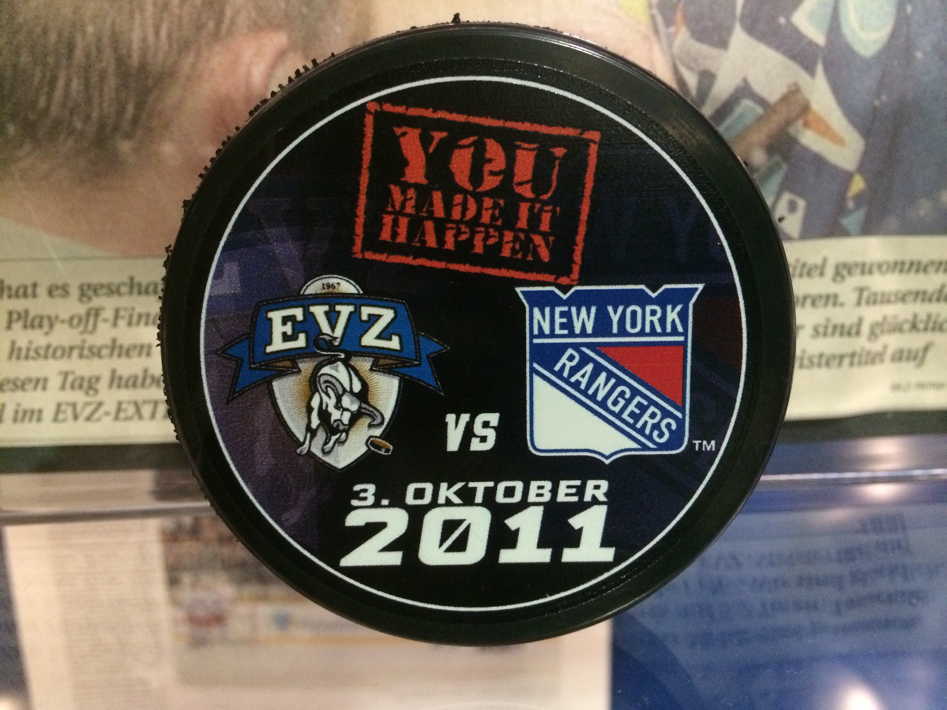 Ein historischer Tag für den EV Zug, am 3. Oktober 2011 werden die Rangers niedergekontert. (Foto: eishockeyblog.ch)
