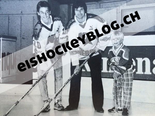 Der Zenhäusern-Clan anno 1988 (von links): Gerd, Aldo und Jan (spielt aktuell beim HC Sierre)